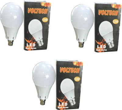 Engineerings 12 W LED Bulb B22 White (pack of 3)