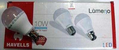 Lumeno 10W White LED Bulbs (Pack of 10)