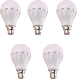9W 460 Lumens White Eco LED Bulbs (Pack Of 5)