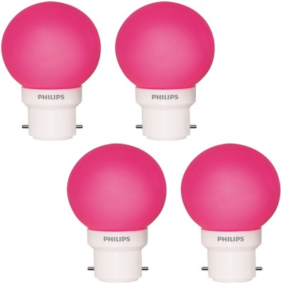 0.5-W-LED-Decomini-Bulb-Pink-(pack-of-4)