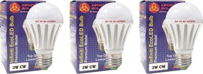 Eco-E27-3W-LED-Bulb-(Cool-White,-Pack-of-3)