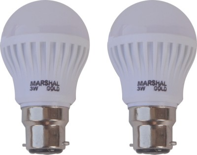Gold-3-W-LED-Bulb-(White,-Pack-of-2)