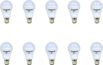 7W Aluminium Body White LED Bulb (Pack of 10)