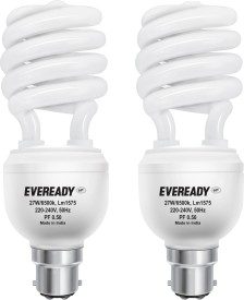 Eveready 27 W CFL Spiral Combo Pack Bulb
