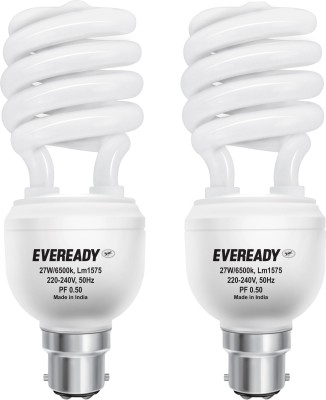 Eveready 27 W CFL Spiral Combo Pack Bulb Image