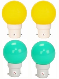 0.5W Multicolour LED Light (Pack Of 4)
