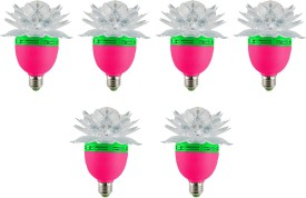 Lotus 3 W LED Bulb (Multicolor, Pack of 6)