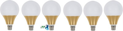 12W B22 Aluminium Body White LED Bulb (Pack of 6)