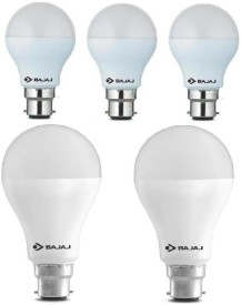 5 W, 15 W LED Bulb B22 White (pack of 5)