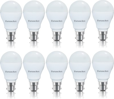 7W B22 LED Bulb (White, Pack of 10)