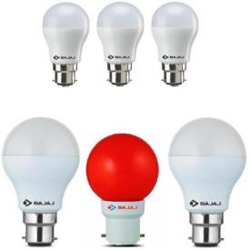 3 W, 9 W, 0.5 W LED Bulb White (pack of 6)