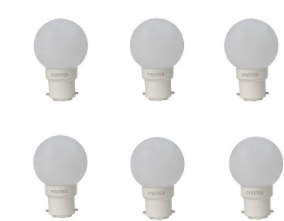 0.5W White LED Bulb (Pack of 6)