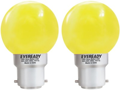 0.5W Yellow Deco LED Bulb (Pack of 2)