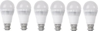 9W White LED Bulb (Pack of 6)