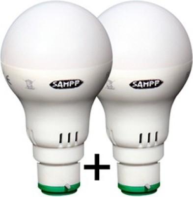 10W B22 LED Bulb (White, Set of 2)