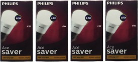4W Ace Saver LED Bulb (Yellow, Pack of 4)