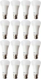 5W B22 LED Bulb (White, Set of 16)