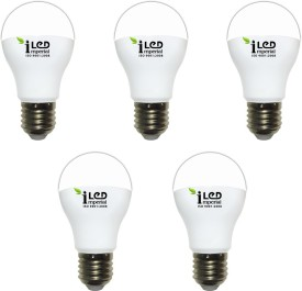 3W-CW-E27--3608 LED Premium Bulb (White, Pack of 5)