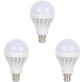 5W B22 LED Bulb (White, Set of 3)