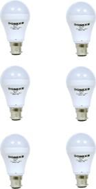 7W Aluminium Body White LED Bulb (Pack of 6)