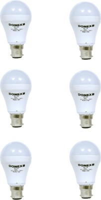 7W Aluminium Body White LED Bulb (Pack of 6)