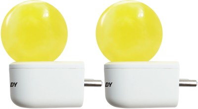 0.5W Plug and Play Yellow Deco LED Bulb (Pack of 2)