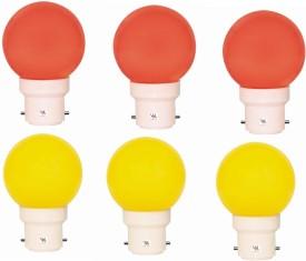 0.5W Multicolour LED Light (Pack Of 6)