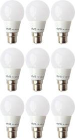 3-W-B22-LED-Bulb-(White,-Pack-of-9)