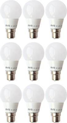 3 W B22 LED Bulb (White, Pack of 9)