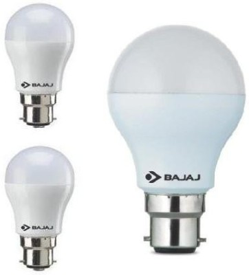 3 W, 9 W LED Bulb B22 White (pack of 3)