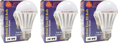 Eco E27 3W LED Bulb (Warm White, Pack of 3)