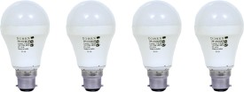 9W Aluminium Body White LED Bulb (Pack of 4)