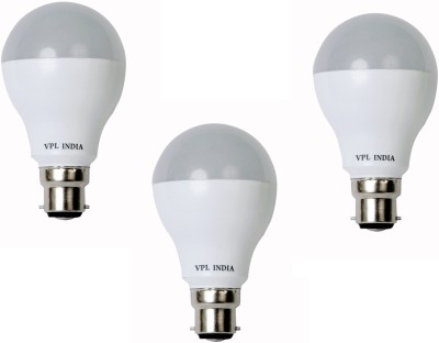 9W Warm White LED Bulb (Pack of 3)