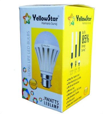 3W B22 LED Bulb (White, Set of 15)