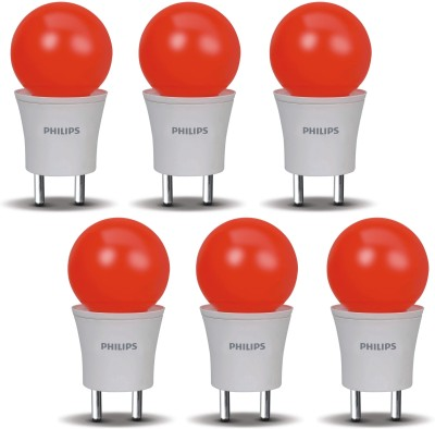 0.5 W LED Joyvision-Plug N Play Bulb Red (Pack Of 6)