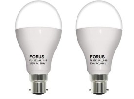 12W B22 LED Bulb (White, Pack of 2)