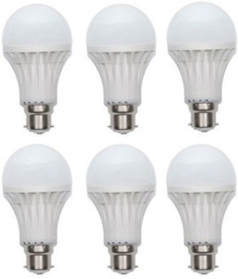 15W Plastic 100 Lumens White LED Bulb (Pack Of 6)