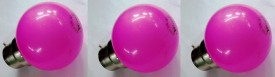 0.5W Pink LED Bulbs (Pack Of 3)