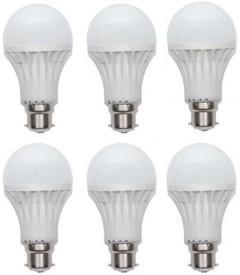 3W LED Bulb B22 White (pack of 6)