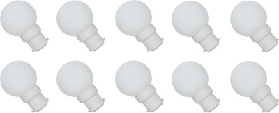 0.5W B22 LED Bulb (White, Set of 10)