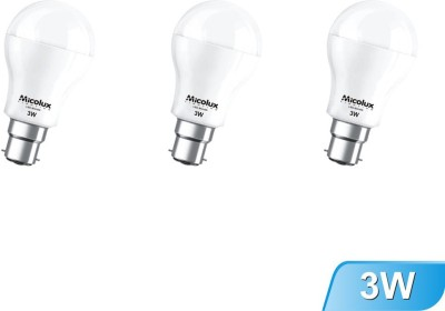 3W B22 White Led Bulb (Set Of 3)