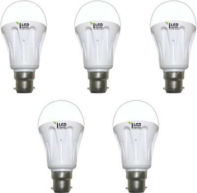 10W-B22-1000L-LED-Aluminium-Bulb-(Yellow,-Pack-of-5)-