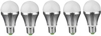 IPP 7 W LED (Set Of 5) E27 7 Watt Long Life - Full Aluminium Body - Superb Design Bulb (White, Pack Of 5)