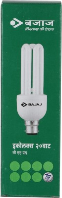Retrofit Ecolux 20 W CFL Bulb (Cool Day Light,Pack of 2)