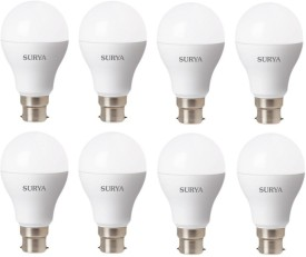 3 W B22 LED Bulb (White, Pack of 8)