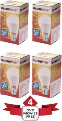 5-W,-7-W-LED-Ecolux-6500K-Cool-DayLight-Bulb-White-(pack-of-4)
