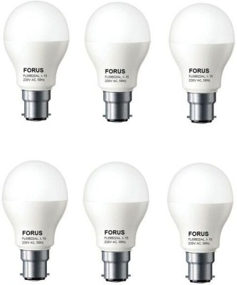 9 W FL09B22AL LED B22 Bulb Cool White (pack of 6)