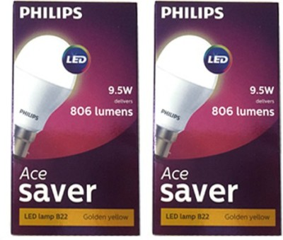 9.5-W-B22-800L-Yellow-LED-Ace-Saver-Bulb-(Pack-of-2)
