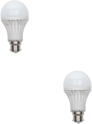 Gold-12-W-B22-LED-Bulb-(White,-Pack-of-2)