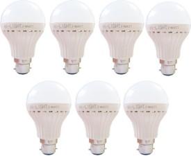 7W B22 LED Bulb (White, Set of 7)